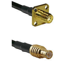 SMA 4 Hole Female on RG400 to MCX Male Cable Assembly