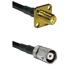 SMA 4 Hole Female on RG400 to MHV Female Cable Assembly