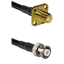 SMA 4 Hole Female on RG400 to MHV Male Cable Assembly