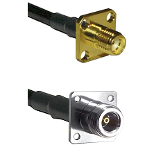 SMA 4 Hole Female on RG400 to N 4 Hole Female Cable Assembly