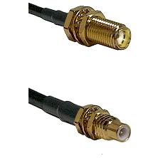 SMA Female Bulkhead on Belden 83242 RG142 to SSMC Male Bulkhead Cable Assembly