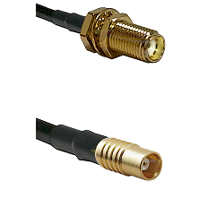 SMA Female Bulkhead on LMR100 to MCX Female Cable Assembly