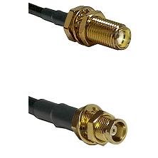SMA Female Bulkhead on LMR100 to MCX Female Bulkhead Cable Assembly