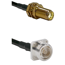 SMA Female Bulkhead on LMR-195-UF UltraFlex to 7/16 4 Hole Female Cable Assembly