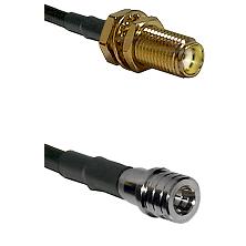 SMA Female Bulkhead on LMR-195-UF UltraFlex to QMA Male Cable Assembly
