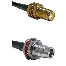 SMA Female Bulkhead on LMR-195-UF UltraFlex to QN Female Bulkhead Cable Assembly