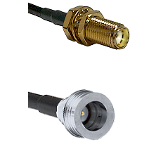 SMA Female Bulkhead on LMR-195-UF UltraFlex to QN Male Cable Assembly