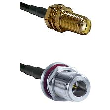 SMA Female Bulkhead on LMR-195-UF UltraFlex to N Reverse Polarity Female Bulkhead Coaxial Cable Asse