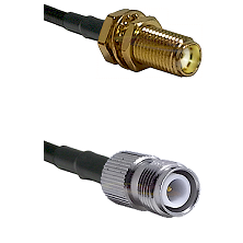 SMA Female Bulkhead on LMR-195-UF UltraFlex to TNC Reverse Polarity Female Cable Assembly