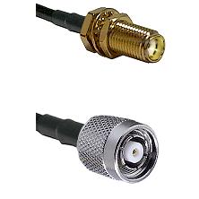 SMA Female Bulkhead on LMR-195-UF UltraFlex to TNC Reverse Polarity Male Cable Assembly