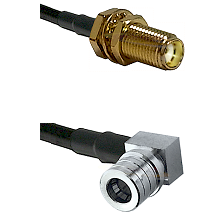 SMA Female Bulkhead on LMR-195-UF UltraFlex to QMA Right Angle Male Cable Assembly