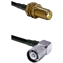 SMA Female Bulkhead on LMR-195-UF UltraFlex to SC Right Angle Male Cable Assembly