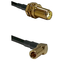 SMA Female Bulkhead on LMR-195-UF UltraFlex to SLB Right Angle Female Cable Assembly