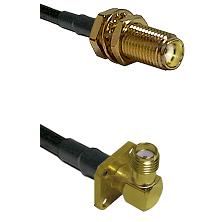 SMA Female Bulkhead on LMR-195-UF UltraFlex to SMA 4 Hole Right Angle Female Cable Assembly