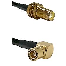 SMA Female Bulkhead on LMR-195-UF UltraFlex to SMB Right Angle Female Cable Assembly