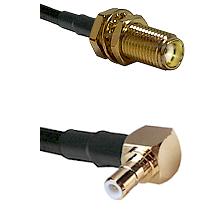 SMA Female Bulk Head To Right Angle SMB Male Connectors LMR-195-UF UltraFlex Custom Coaxial C