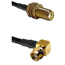 SMA Female Bulkhead on LMR-195-UF UltraFlex to SMC Right Angle Female Cable Assembly