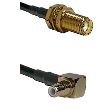 SMA Female Bulkhead on LMR-195-UF UltraFlex to SMC Right Angle Male Cable Assembly