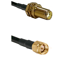 SMA Female Bulkhead on LMR-195-UF UltraFlex to SMA Reverse Thread Male Cable Assembly
