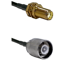 SMA Female Bulkhead on LMR-195-UF UltraFlex to SC Male Cable Assembly