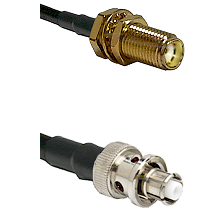 SMA Female Bulkhead on LMR-195-UF UltraFlex to SHV Plug Cable Assembly