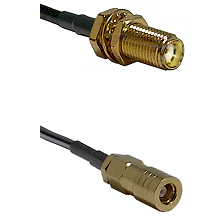 SMA Female Bulkhead on LMR-195-UF UltraFlex to SLB Female Cable Assembly