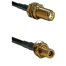 SMA Female Bulkhead on LMR-195-UF UltraFlex to SLB Female Bulkhead Cable Assembly