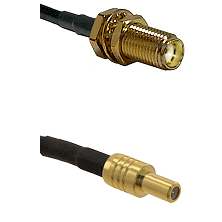 SMA Female Bulkhead on LMR-195-UF UltraFlex to SLB Male Cable Assembly