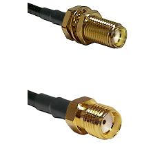 SMA Female Bulkhead on LMR-195-UF UltraFlex to SMA Female Cable Assembly