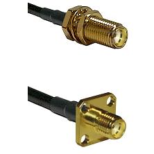SMA Female Bulkhead on LMR-195-UF UltraFlex to SMA 4 Hole Female Cable Assembly
