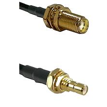 SMA Female Bulkhead on LMR-195-UF UltraFlex to SMB Male Bulkhead Cable Assembly