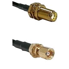 SMA Female Bulkhead on LMR-195-UF UltraFlex to SMC Female Bulkhead Cable Assembly