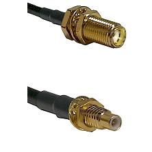 SMA Female Bulkhead on LMR-195-UF UltraFlex to SMC Male Bulkhead Cable Assembly