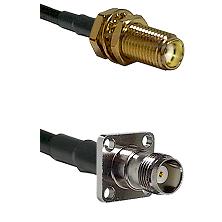 SMA Female Bulkhead on LMR-195-UF UltraFlex to TNC 4 Hole Female Cable Assembly