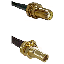 SMA Female Bulkhead on RG142 to 10/23 Female Bulkhead Cable Assembly
