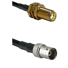 SMA Female Bulkhead on RG142 to BNC Female Cable Assembly