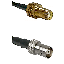SMA Female Bulkhead on RG142 to C Female Cable Assembly