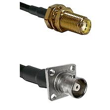 SMA Female Bulkhead on RG142 to C 4 Hole Female Cable Assembly