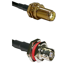 SMA Female Bulkhead on RG142 to C Female Bulkhead Cable Assembly