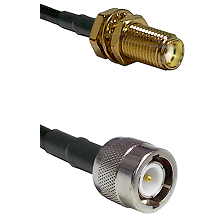 SMA Female Bulkhead on RG142 to C Male Cable Assembly