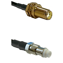 SMA Female Bulkhead on RG142 to FME Female Cable Assembly