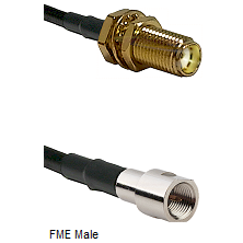 SMA Female Bulkhead on RG142 to FME Male Cable Assembly
