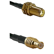 SMA Female Bulkhead on RG142 to MCX Male Cable Assembly