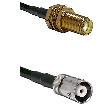 SMA Female Bulkhead on RG142 to MHV Female Cable Assembly