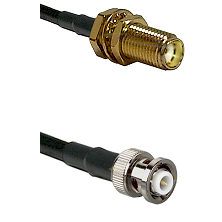 SMA Female Bulkhead on RG142 to MHV Male Cable Assembly