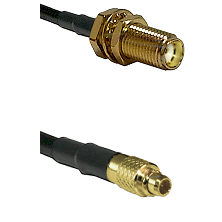 SMA Female Bulk Head To MMCX Male Connectors RG178 Cable Assembly