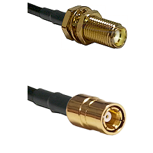 SMA Female Bulk Head To SMB Female Connectors RG178 Cable Assembly
