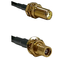 SMA Female Bulk Head To SMB Female Bulk Head Connectors RG178 Cable Assembly
