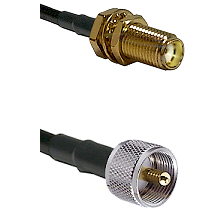 SMA Female Bulk Head To UHF Male Connectors RG178 Cable Assembly