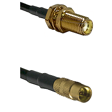 SMA Female Bulk Head To MMCX Female Connectors RG179 75 Ohm Cable Assembly